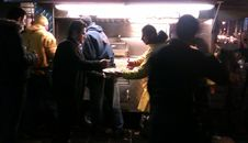 Free Diners Outside Food Truck Stock Images - 84931784