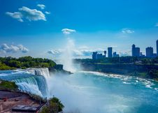 Free Niagara Falls And City Royalty Free Stock Photo - 84931895