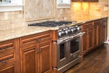 Free Fancy Kitchen With Large Oven And Stove Royalty Free Stock Images - 84932039