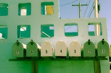 Free Row Of Mailboxes Royalty Free Stock Photo - 84932195