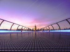 Free People Walking On Bridge Towards Dome Building Stock Photography - 84932692