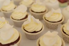 Free Frosted Cupcakes Stock Image - 84932911