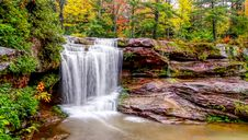 Free Waterfall In The Forest Stock Image - 84932941