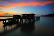 Free Jetty At Sunset Stock Photography - 84933642