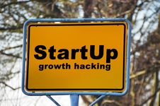 Free Yellow And Black Start Up Growth Hacking Signage Stock Image - 84933751