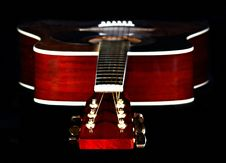 Free Close Up Photography Of Red Wooden Guitar Head Stock Stock Photo - 84934060