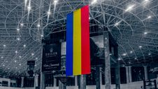 Free Romanian Flag Hanging Royalty Free Stock Photography - 84934087