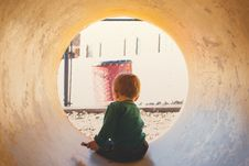 Free Boy In The Tunnel During Daytime Stock Photos - 84934303