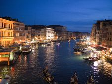 Free Boats On Canal In Venice Stock Image - 84934751