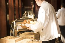Free Restaurant Workers Restocking Buffet Royalty Free Stock Photos - 84935258