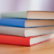 Free Blue White Red And Green Books Royalty Free Stock Photo - 84935355