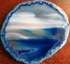 Free Blue-dyed Mineral Slice 2 Royalty Free Stock Image - 84935816