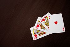 Free Ace, Jack, Queen And King Of Hearts Stock Image - 84936001