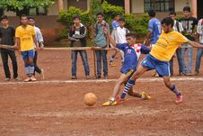 Free Football Game In India Stock Photos - 84936163