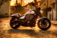 Free Parked Motorbike Royalty Free Stock Photos - 84936258