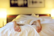 Free Collapsed On The Bed Royalty Free Stock Photos - 84937178
