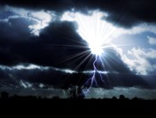 Free Lightning In Land Royalty Free Stock Image - 84937346