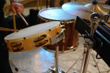 Free Brown And White Tambourine Stock Image - 84937891