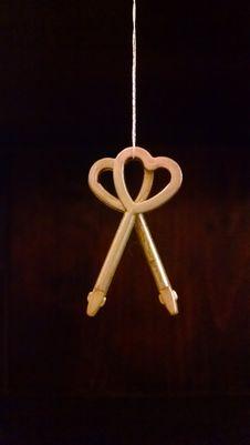 Free Hanging Heart Keys Royalty Free Stock Image - 84938006