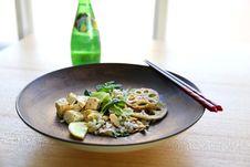 Free Shabu Shabu On Plate Beside Chopstick And Soda Bottle Stock Photos - 84939613
