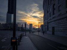 Free London Street At Sunset Stock Photo - 84939690