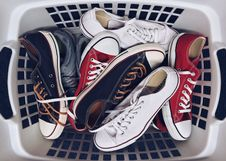 Free Basket With Sneakers Royalty Free Stock Photo - 84939865