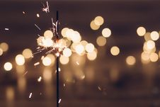Free Sparkler And Bokeh Stock Image - 84939931