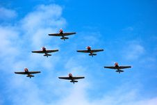 Free Historic Fighter Squadron Royalty Free Stock Photography - 84939967