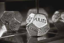Free Aries Dice In Gray Scale Photography Stock Photos - 84940143