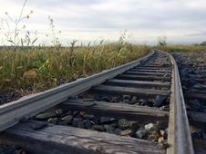 Free Railroad Track Against Sky Stock Images - 84940294
