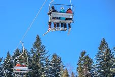 Free Ski Lift Royalty Free Stock Photography - 84941077