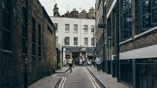 Free Backstreet Alley With Shops Stock Photos - 84941363