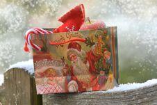 Free Christmas Gift Bag Royalty Free Stock Photography - 84943957