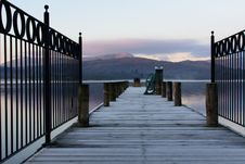 Free Boardwalk With Metal Fence Stock Photography - 84945052