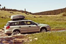 Free Car In Creek Stock Photography - 84945402