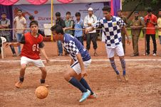 Free Indian Men Playing Football Royalty Free Stock Photos - 84945868