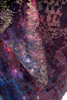 Free Iridescent Purplish Fabric With Gold Stock Photo - 84946660
