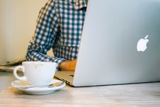 Free Businessman, Coffee And Macbook Pro Royalty Free Stock Photography - 84947147