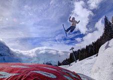 Free Ski Jumper Stock Image - 84947291