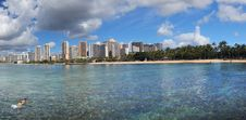 Free Waikiki Beach Honolulu. Royalty Free Stock Photo - 84947755