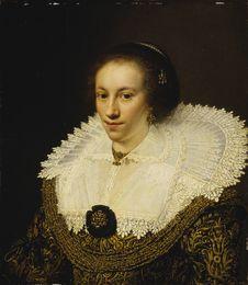 Free Jan Anthonisz Van Ravesteyn &x28;1570/72−1657&x29;: Maria Odilia Buys Stock Photo - 84949660