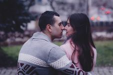 Free A Couple About To Kiss Royalty Free Stock Image - 84950416