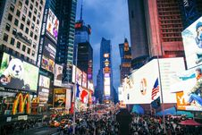 Free Times Square At Night Stock Images - 84951454