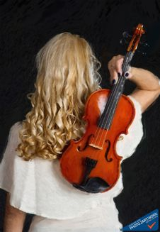 Free Violin Woman - ID: 16218-130655-0946 Royalty Free Stock Images - 84954429