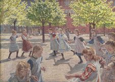 Free Peter Hansen &x28;1868-1928&x29;: Playing Children, Enghave Square, 1907-08, KMS2075 Stock Photo - 84956580