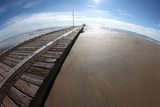 Free Wooden Pier On Beach Royalty Free Stock Photo - 84957435
