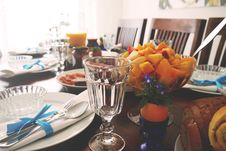 Free Table Laid With Food For Breakfast Royalty Free Stock Image - 84960626