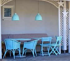 Free Blue Chairs In Small Alcove Stock Images - 84961064
