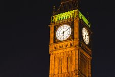 Free Brown Elizabeth Tower During Night Time Royalty Free Stock Photography - 84961067