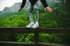 Free Standing On Fence Royalty Free Stock Image - 84961686